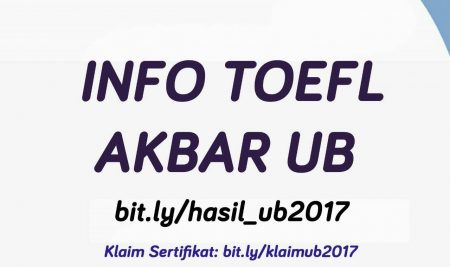 [INFO HASIL TOEFL AKBAR UB 2017]